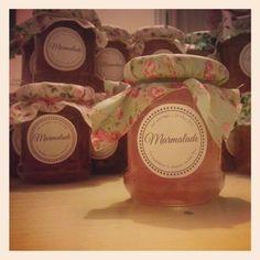 Homemade marmalade favours