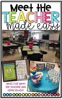 How To Start A Business Discover Meet the Teacher Made Easy! Meet the Teacher Made Easy! - Teaching With Crayons and Curls Back To School Night, 1st Day Of School, Beginning Of The School Year, Back To School Teacher, Middle School, School 2017, School Stuff, Teacher Forms, Letter To Teacher