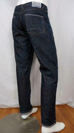 Play Cloths Selvedge Straight Leg Jeans Button Fly Cotton Dark Wash 36 X 33 Jeans Button, Denim Jeans, Men's Clothing, Cloths, Buttons, Slim, Legs, Dark, Pants