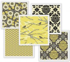 Another yellow-grey combination.  Too baroque for me, but the colors are interesting.