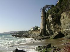 Victoria Beach, Laguna Beach.  I went to a birthday party here when I was 8 and we have a treasure hunt inside this tower for coins.