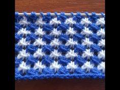 Two-tone openwork knitting pattern Knitting Stiches, Knitting Videos, Baby Knitting Patterns, Knitting Designs, Knitting Socks, Crochet Stitches, Hand Knitting, Stitch Patterns, Crochet Patterns