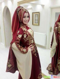 Kadin Setr-i Nur Tesettür Türban Tasarım Gelin Başı modelleri 2014-2015 .....Turkish bride