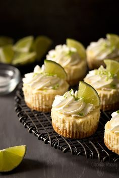 Turn your drink into dessert with Small Batch Mini Margarita Cheesecakes in a graham cracker crust. Easy recipe makes only 6 mini cheesecakes. Crunchwrap Supreme, Homemade Cheesecake, Cheesecake Recipes, Raspberry Cheesecake, Oreo Cheesecake, Dessert Drinks, Dessert Recipes, Yummy Recipes, Dessert Shots