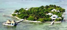 Cayo Espanto is a private island resort about three miles off the Belize coast.