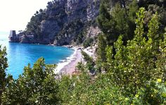 Secluded Fornillo beach, Positano