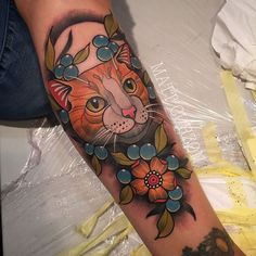 Traditional Cat Tattoo