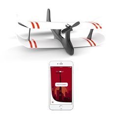 TobyRich Moskito : Avion contrôlé par application smartphone / drone biplan t App Control, Ios, Android Smartphone, Applications, Land Rover Defender, Lego City, Carbon Fiber, Quad, Remote