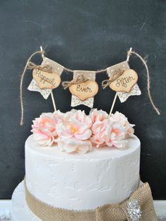God Bless Christening Baptism Cake Topper Burlap & Lace Bunting Flags Banner Wood Hearts Rustic Country Shabby Chic – Famous Last Words Burlap Wedding Decorations, Wedding Cake Rustic, Rustic Cake, Elegant Wedding, Wedding Country, Chic Wedding, Wedding Ideas, Trendy Wedding, Lace Wedding