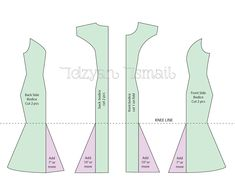 Mermaid dress pattern