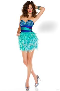 Short+Prom+Dresses | Evening Dresses - Buy Cocktail Dresses Feather Mini Short Prom Dresses ...