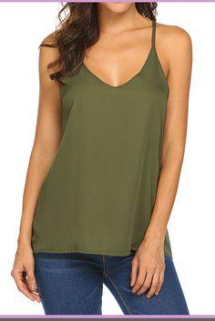 Ladies Plain Thin Strap Lace Trim Stretch Cotton Sun Cami Vest Top Lot S 2XL