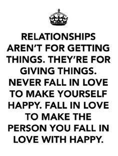 A little bit of relationship advice…