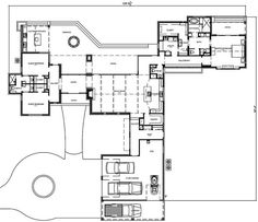 The eye-catching 1-story home's floor plan has 3087 square feet of heated and cooled living space with desirable amenities. #houseplan #floorplan Country House Design, Country House Plans, Dream Home Design, Ranch House Plans, House Floor Plans, Exterior Wall Materials, Family Room Fireplace, Story Structure, Minimal Decor