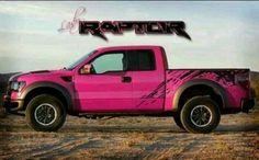Pink Ford Raptor! I LOVE PINK!!!!!!