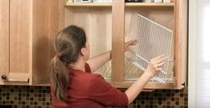 This Woman Sets Wire Shelves Into Her Food Cabinets. The End Result