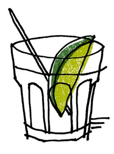 Gin and tonic Illustration