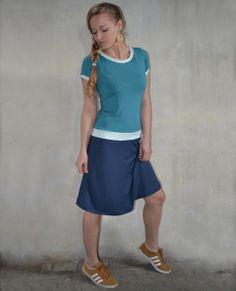 Kleid türkis blau Jersey von Jaqueen auf DaWanda.com