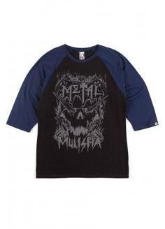 Metal Mulisha Long Sleeve Dead Fist White T-Shirt T-Shirt Men Men/'s Leisure