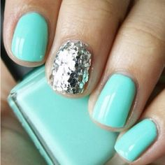 Tiffany blue and sparkles!