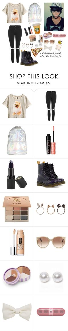 """"" by bobglitter ❤ liked on Polyvore featuring H&M, Topshop, Barry M, Dr. Martens, Stila, Clinique, Tom Ford, jane, Nouv-Elle and Marc Jacobs"