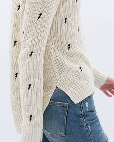 Image 5 of LONG EMBROIDERED SWEATER from Zara