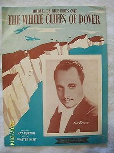 The White Cliffs of Dover Sheet Music 1941 Music Walter Kent & Words Nat Burton - http://musical-instruments.goshoppins.com/sheet-music-song-books/the-white-cliffs-of-dover-sheet-music-1941-music-walter-kent-words-nat-burton/