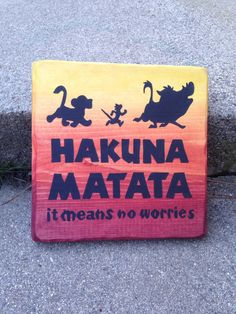 9 The Lion King Wood Sign  Disney Sign  Disney Quote