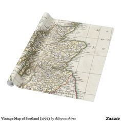 Vintage Map of Scotland (1772) Wrapping Paper