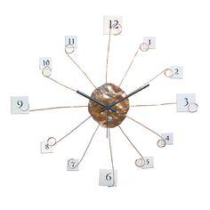 Copper clock, Wall clock, Home decor, Original clock, Hand made clock, rusty clock, metal clock, design clock, clock, rustic clock, clocks