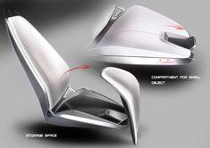SPD - Concept Car Interior - Seat Design Sketches