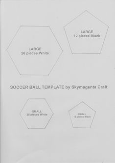 Felt Craft Tutorial Soccer Ball Template (Crochet & Craft The Thinkable & Unthinkable!) is part of Felt crafts Tutorial - Here is the template for the felt soccer ball Hope you will enjoy making this! )Have a great day ahead! Soccer Birthday, Soccer Party, Play Soccer, Felt Crafts Diy, Crochet Crafts, Soccer Ball Cake, Soccer Cakes, Cake Templates, Shoe Template