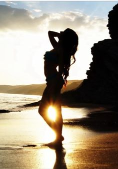 Sensuality at the beach