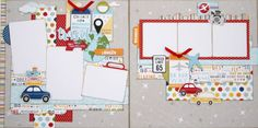 Two page layout scrapbooking kit from Paisleys and Polka Dots