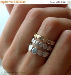 20% OFF RINGS 14k Gold Small Pebble Ring by ColbyJuneJewelry
