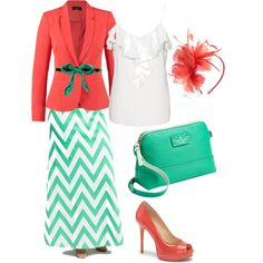 Mint & Coral by acordle on Polyvore featuring polyvore, fashion, style, Vero Moda, Modström, Poliana Plus, Vince Camuto, Kate Spade, Marni and Accessorize