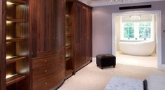 Ensuite bedroom, with stunning furniture. Bespoke Furniture, Tall Cabinet Storage, Sleep, Bedroom, Home Decor, Decoration Home, Room Decor, Bedrooms, Home Interior Design