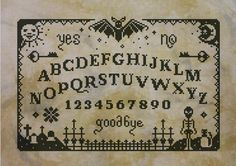 Make your own Ouija board to summon spirits from the beyond! This cross stitch pattern includes two versions of the Ouija: the first one is made in solid black, the other one have some color accents to emphasize the sun and moon and the details on the bottom! Scared by the framing prices? Dont worry! The PDF includes fabric and framing suggestions and the pattern is designed to fit an A4 frame if stitched on 16 count Aida or 32 count Linen! PATTERN DETAILS: Stitches: 159x106 Size (with 14…