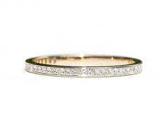 Princess Cut Diamond Eternity Ring 1.8mm 18k 14k. Wedding Band . Full 3/4 Half Eternity . Channel Setting. Yellow Rose White Gold . Polamai Our stunning channel set princess cut diamond eternity ring. The diamonds are expertly set, edge to edge, creating an uninterrupted fiery white band. If