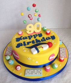 90th Bingo Birthday Cake - For all your cake decorating supplies, please visit craftcompany.co.uk