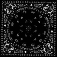 Black with white bandana patterns design vector 01 - Vector ...