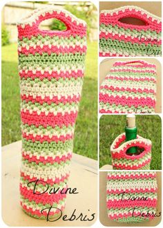 "Willow Bottle Cozy Pattern by Divine Debris How are you doing on this lovely Saturday? Well, it's Saturday here when I'm at but it might not be where you are. Either way, I hope which ever day it is where you are is delightful. Here I'm hoping to accomplish some much needed house work and get some patterns finished up as well as work on a new ""secret"" pattern that I'm not sure about still. Don't you hate that? When you're working on a pattern and you're not entirely sure you like how it's…"