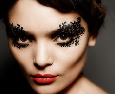 Face Lace are intricate make up design stickers which are shaped in elaborate patterns which you can place around your eyes and face, they are wonderful for really making a statement.
