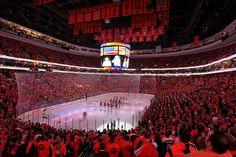 A sea of orange... the Philadelphia Flyers