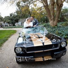 Our 1966 Shelby GT350 convertible Ford Mustang out for Kira and Chris's wedding - photography by ATEIA.