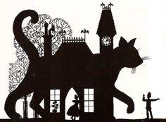 {Art} The Baker's Cat - Necklace of Raindrops • byJan Pienkowski #art #Pienkowski ✍