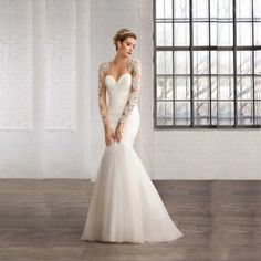 2015-vestidos-de-noiva-sereia-White-Ivory-Sweetheart-Sheer-Neck-Mermaid-Floor-length-Sequined-Wedding-Dresses-Cheap-Bridal-Gowns-0