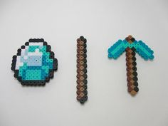 Minecraft Diamond Gem, Stick, and Tool or Weapon of Your Choice Magnet Set