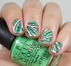 Mani Monday: Tropical Leaf Nail Tutorial | The Hunt