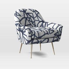 Phoebe Chair - Lively Lines Print